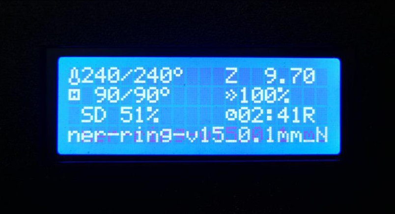 Temperature and print speed